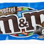 M&M's Pretzel, sweet chocolate with salty pretzel.
