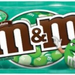 M&M's Mint, mint in dark chocolate.